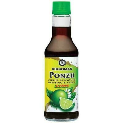 Kikkoman Ponzu Lime Seasoned Dressing & Sauce (10 Fl. Oz)