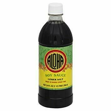 Aloha Soy Sauce Lower Salt  (24 Fl. Oz)