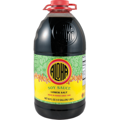 Aloha Soy Sauce Lower Salt  (64 Fl. Oz)