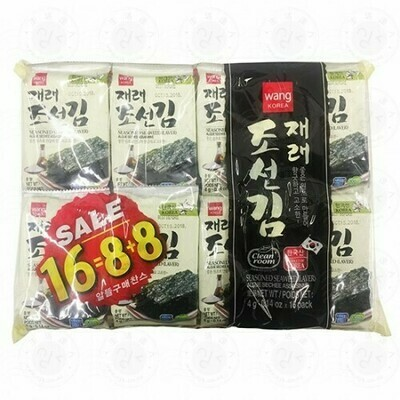 Wang Seasoned Seaweed (0.14 Oz * 16 Packs)