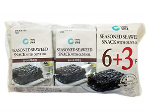 ChungJungOne Seasoned Seaweed Snack with Olive Oil 9 Packs