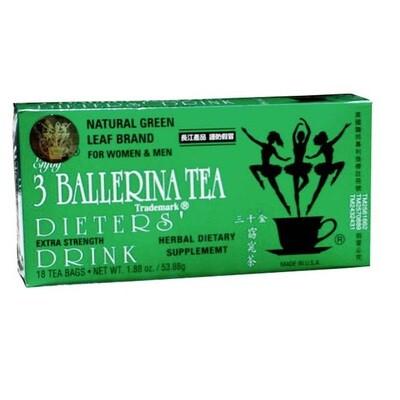 3 Ballerina Herbal Tea 18 Bags (1.88 Oz)