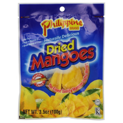 Philippine Brand Dried Mangoes (3.5 Oz)