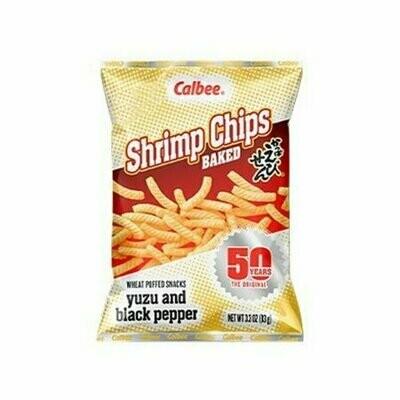 Calbee Shrimp Chips Yuzu and Black Pepper  (3.3 Oz)