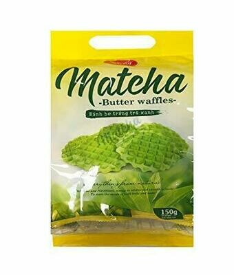 Richy Matcha Butter Waffles  (5.29 Oz)