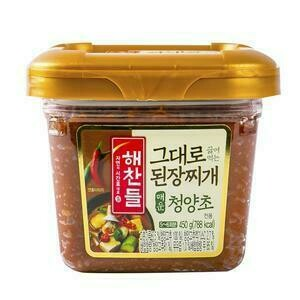 CJ Soybean Paste for Stew Hot Pepper Flavor (15.87 Oz)