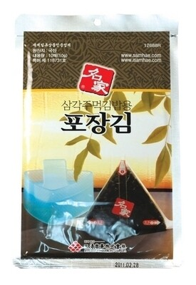 Assi Roasted Seaweed of Triangle Rice Ball 10 Sheets  (0.35 Oz)