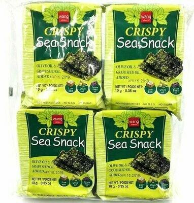 Wang Crispy Sea Snack 4 Packs (0.35 Oz * 4)
