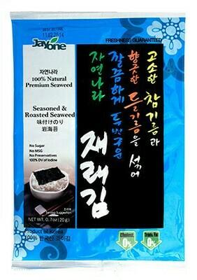 Jayone Seasoned & Roasted Seaweed 4 Packs (0.7 Oz * 4)