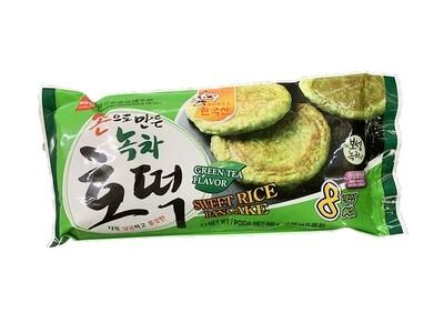 Wang Sweet Rice Pancake Green Tea Flavor 8 Pieces (16.93 Oz)