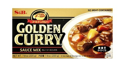 S&B Golden Curry Sauce Mix Hot (7.8 Oz)