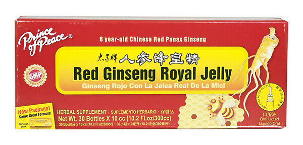 Prince of Peace Red Ginseng Royal Jelly 30 Bottles (10.2 Fl. Oz)