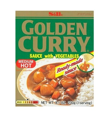 S&B Golden Curry Sauce Medium Hot (8.1 Oz)
