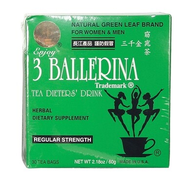 3 Ballerina Herbal Tea 30 Bags (2.18 Oz)