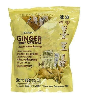 Prince of Peace Instant Ginger Honey Crystals 30 Bags (18.9 Oz)