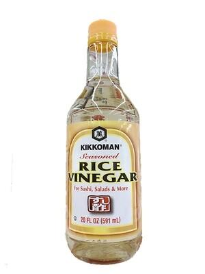 Kikkoman Seasoned Rice Vinegar For Sushi, Salads & More (20 Fl. Oz)