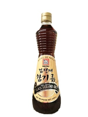 HaeTae 100% Natural Black Sesame Oil (15 Fl. Oz)