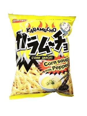 Koikeya Original Spicy Corn Snack Corn Soup w/ Pepper (2.3 Oz)