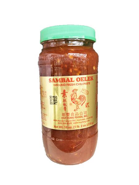 Huyfong Sambal Oelek Ground Fresh Chili Paste (18 Oz)