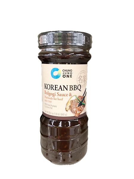 ChungJungOne Korean BBQ Bulgogi Sauce & Marinade for Beef (29.6 Oz)