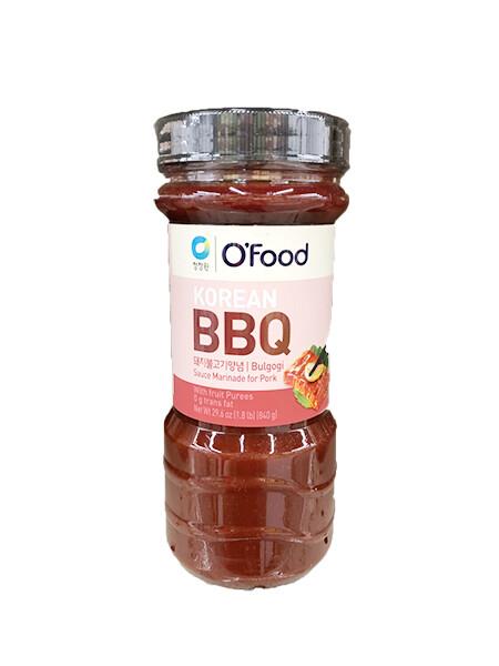 ChungJungOne Korean BBQ Bulgogi Sauce Marinade for Pork (29.6 Oz)
