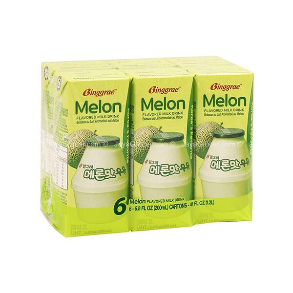 Binggrae Melon Flavored Milk Drink (6.8 Fl. Oz. * 6 Packs)