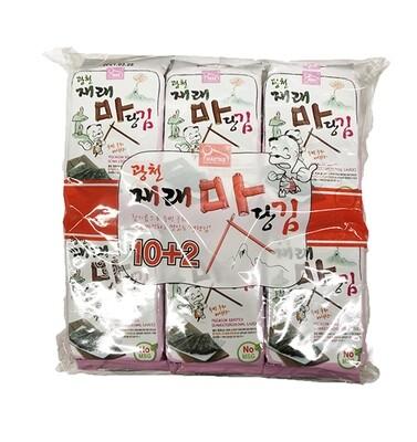 Haetae Premium Roasted Seaweed Snack 12 Packs (0.17 Oz * 12)