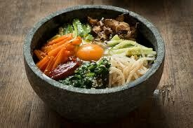 Rice with Assorted Vegetables in Hot Stone Pot