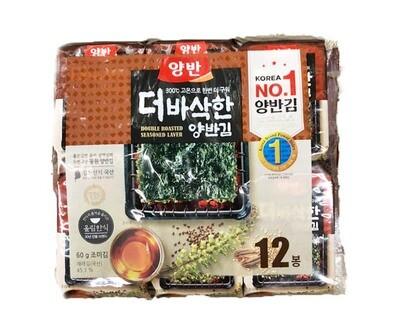 Dongwon Roasted & Seasoned Laver 12 packs (0.17 oz * 12 pks)