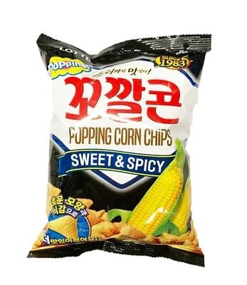 Lotte Corn Snack Sweet & Spicy (2.53 Oz)