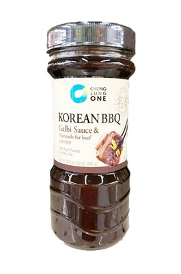 ChungJungOne Korean BBQ Galbi Sauce & Marinade for Beef (29.6 Oz)