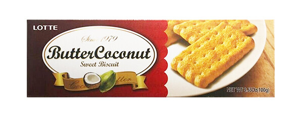 Lotte Butter Coconut Biscuit (3.53 Oz)