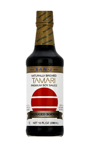 San-J Made with 100% Soy Tamari Gluten Free Soy Sauce Reduced Sodium (10 Fl. Oz)