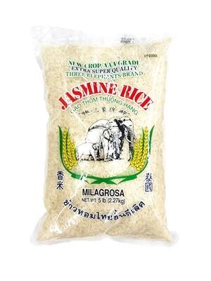 Three Elephants Jasmine Rice (5 LBS)