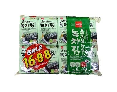 Wang Green Tea Oilve Laver (0.14 Oz * 16 Packs)