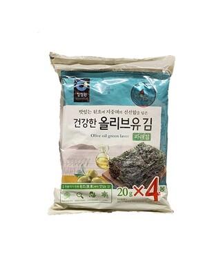 ChungJungOne Olive Oil Green Tea Laver 4 Packs (0.7 Oz * 4)