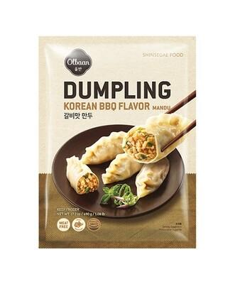OlBan Korean BBQ Flavor Mandu Dumplings (17.2 Oz)