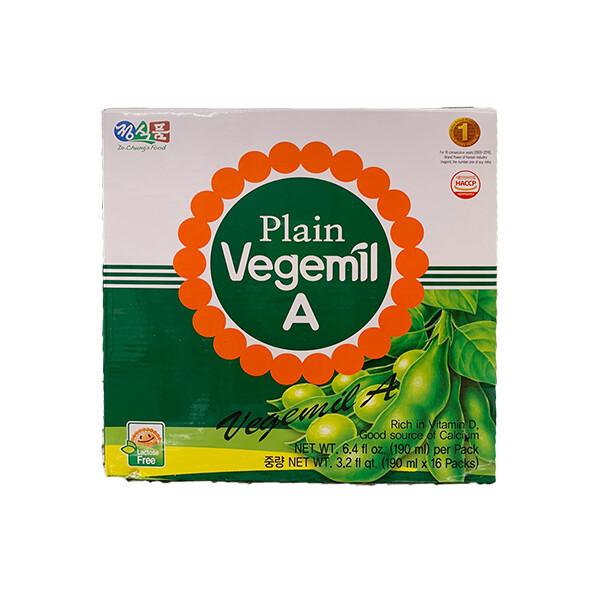 Vegemil Plain A Soy Milk (6.4 Fl. Oz. * 16 Packs)
