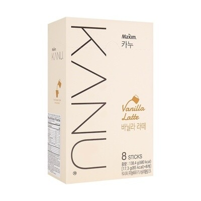Maxim Kanu Vanilla Latte 8 Sticks * 0.61 oz (4.89 oz)