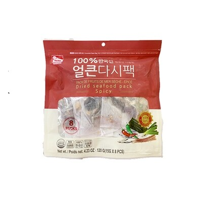 HaeTae Dried Seafood Packs Spicy (0.53 Oz * 8 Packs)