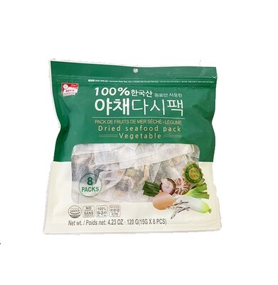 HaeTae Dried Seafood Packs Vegetable (0.53 Oz * 8 Packs)