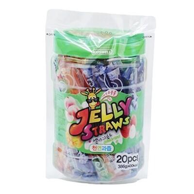 Kid's Well Jelly Straws Original 20Pcs (13.62 Oz)