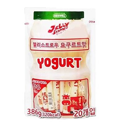 Kid's Well Jelly Straws Yogurt 20Pcs (13.62 Oz)