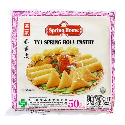 Spring Home TYJ Spring Roll Pastry 50 Sheets (8.8 Oz)
