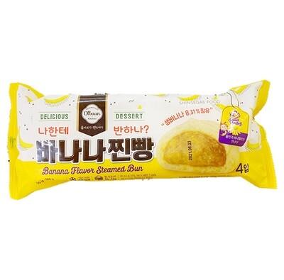 OlBan Banana Flavor Steamed Bun 4 Pcs