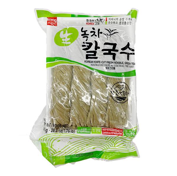 Wang Korean Knife-Cut Fresh Noodle Green Tea Flavor (28.6 Oz)