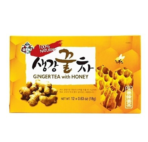 Assi 100% Ginger Tea with Honey 12 Sticks (0.63 Oz * 12)