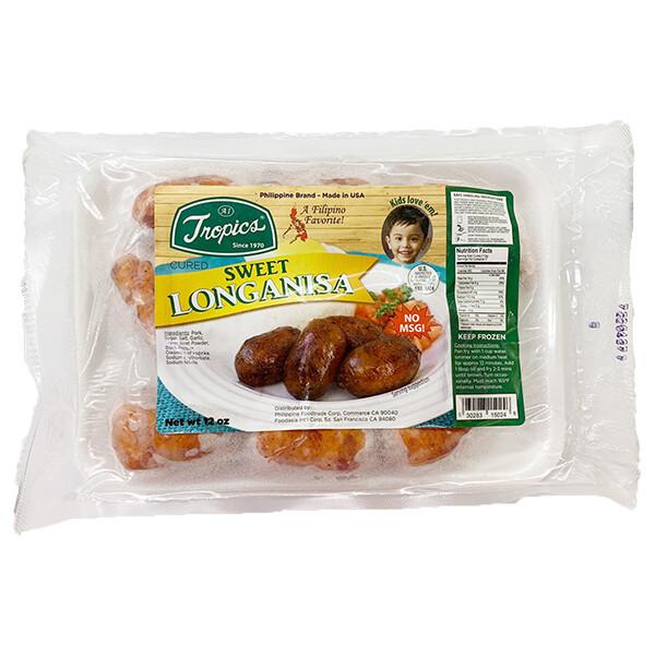 Tropics Sweet Pork Longanisa (12 Oz)