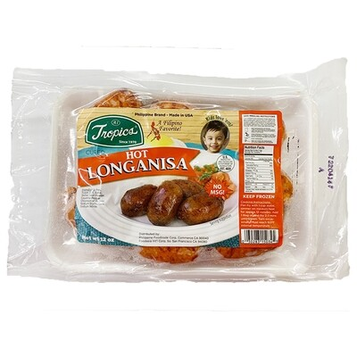 Tropics Hot Pork Longanisa (12 Oz)