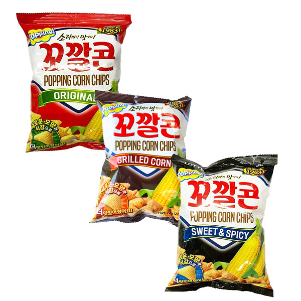 Lotte Popping Corn Chips (2.71 Oz)